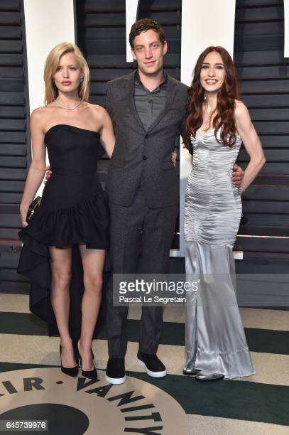 Georgia May Jagger James Jagger and Elizabeth Jagger attend the 2017 Vanity Fair Oscar Party hosted by Graydon Carter at Wallis Annenberg Center for...