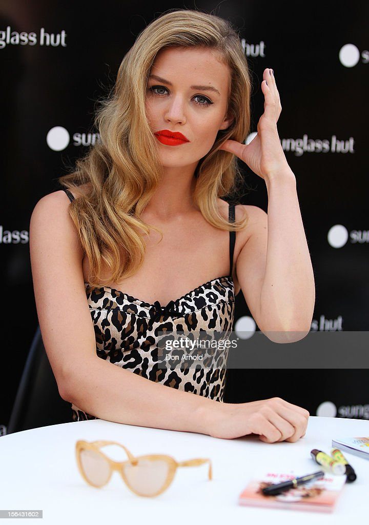 Georgia May Jagger poses during a Sunglasses Hut promotion at Darling Harbour on November 15, 2012 in Sydney, Australia.