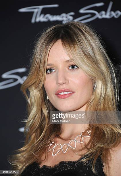 Georgia May Jagger poses during the Thomas Sabo 10 Year Celebration Cocktail Party at Zeta Bar on October 22 2015 in Sydney Australia