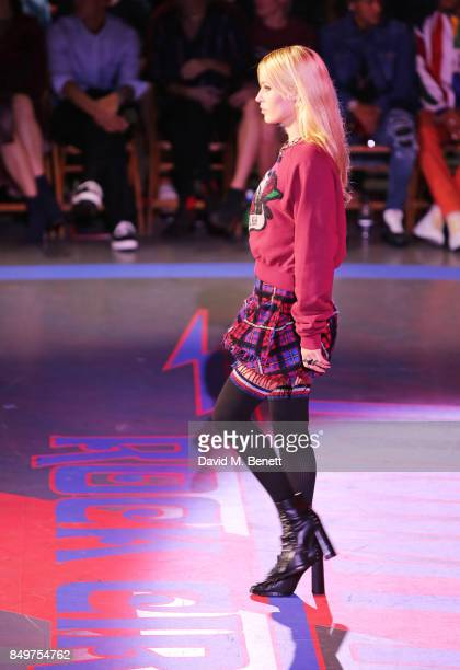 Georgia May Jagger walks the runway at the Tommy Hilfiger TOMMYNOW Fall 2017 Show during London Fashion Week September 2017 at The Roundhouse on...