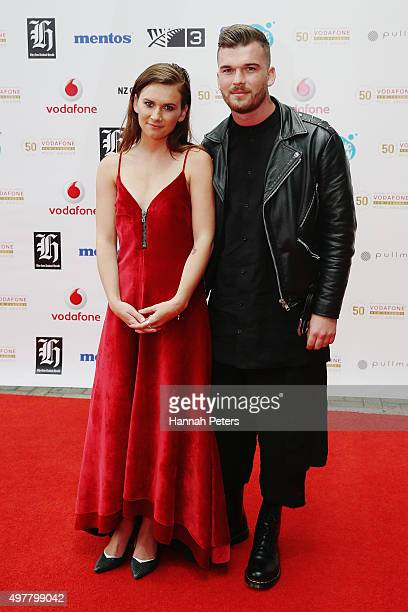 Georgia Nott and Caleb Nott from the band Broods pose for a photo on the red carpet at the Vodafone New Zealand Music Awards at Vector Arena on...