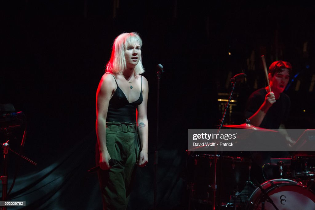 Georgia Nott from Broods opens for Tove Lo at La Cigale on March 13, 2017 in Paris, France.