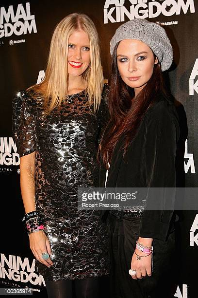 Georgia Sinclair and Hannah Griffiths arrive at the premiere of 'Animal Kingdom' at Hoyts Melbourne Central on May 24 2010 in Melbourne Australia