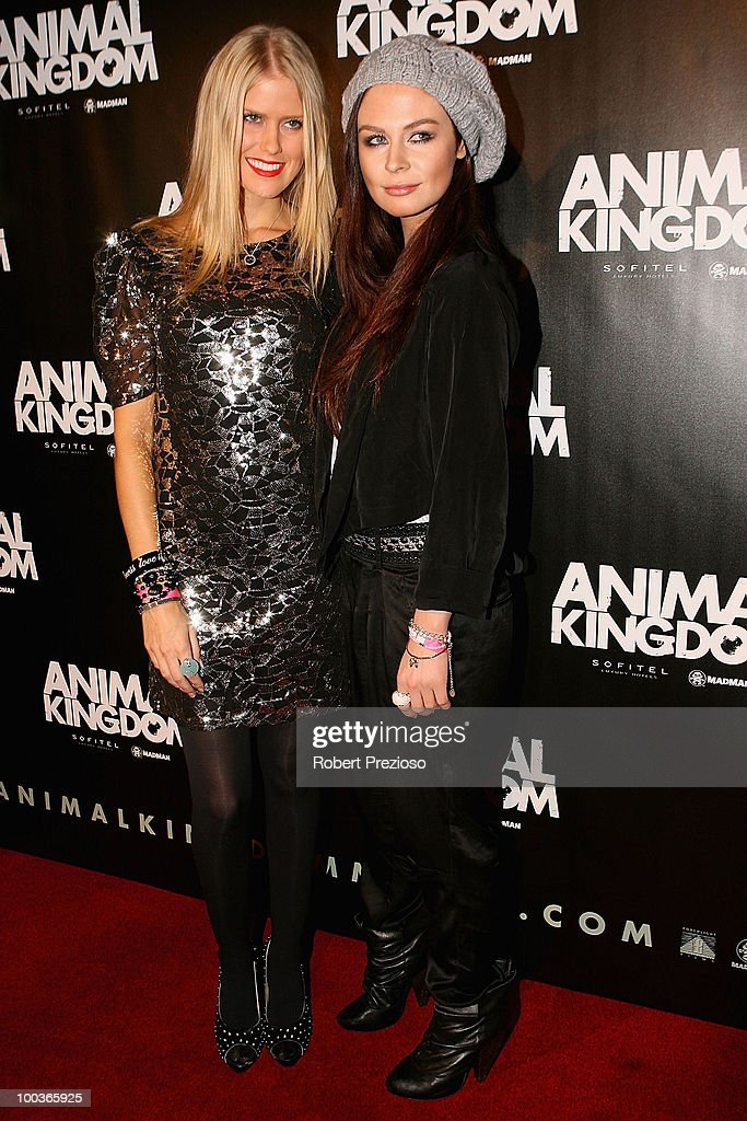 Georgia Sinclair and Hannah Griffiths arrive at the premiere of 'Animal Kingdom' at Hoyts Melbourne Central on May 24, 2010 in Melbourne, Australia.