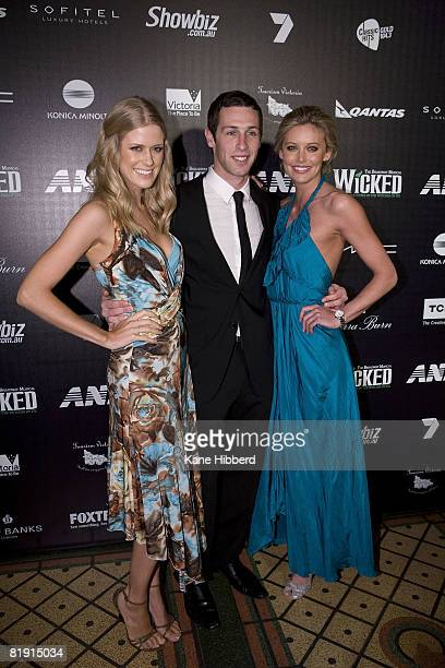 Georgia Sinclair and Kelly Landry arrive for the Australian premiere of 'Wicked' the musical at the Regent Theatre on July 12 2008 in Melbourne...