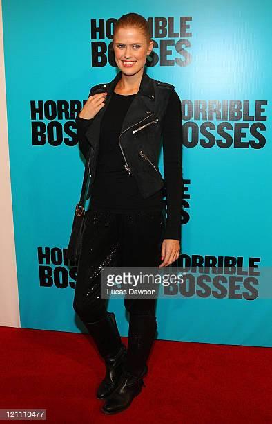 Georgia Sinclair arrives at the Australian Premiere of 'Horrible Bosses' on August 14 2011 in Melbourne Australia