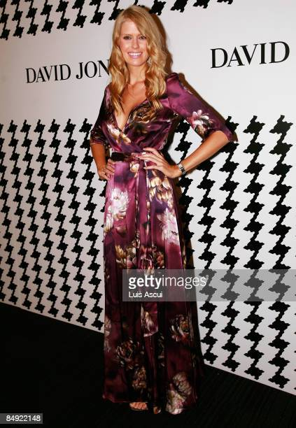 Georgia Sinclair arrives for the David Jones Autumn/Winter 2009 collection launch at the Harbour Esplanade on February 19 2009 in Melbourne Australia