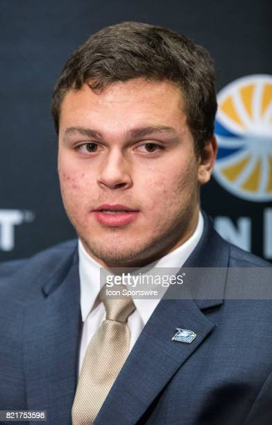 Georgia Southern linebacker Chris DeLaRosa interacts with media during the Sun Belt Media Day on July 24 2017 at the MercedesBenz Superdome on