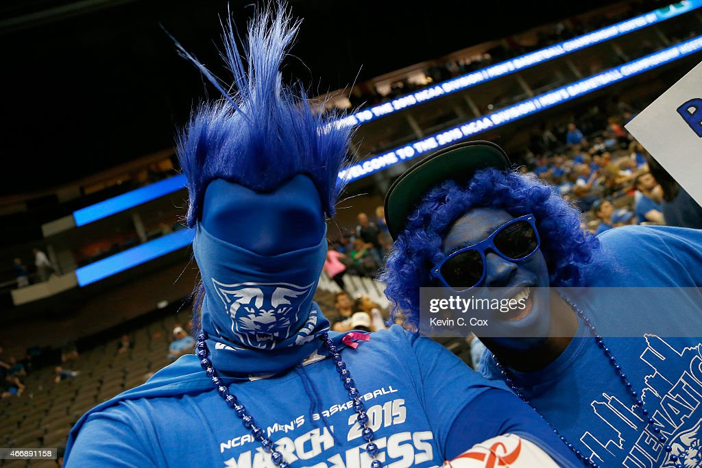 Georgia State Panthers fans cheer before the second round of the 2015 NCAA Men's Basketball Tournament at Jacksonville Veterans Memorial Arena on...