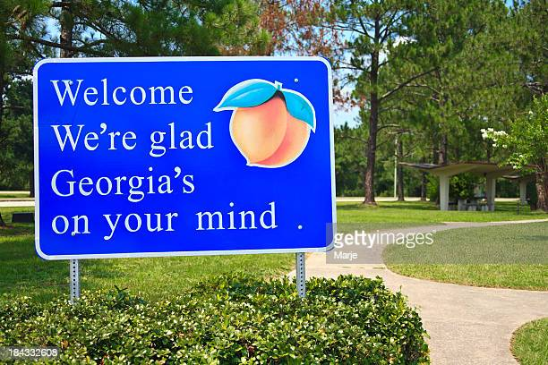 Georgia State Welcome Sign