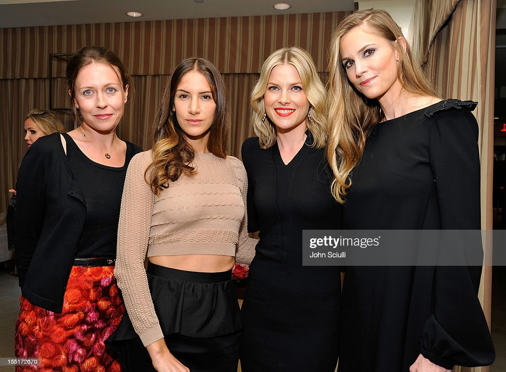 Georgia Tapert Howe, Minnie Mortimer Gaghan, Ali Larter and Annelise Peterson attend a dinner hosted by Ali Larter celebrating the Devi Kroell Spring Summer 2013 Collection at Sunset Tower on November 1, 2012 in West Hollywood, California.
