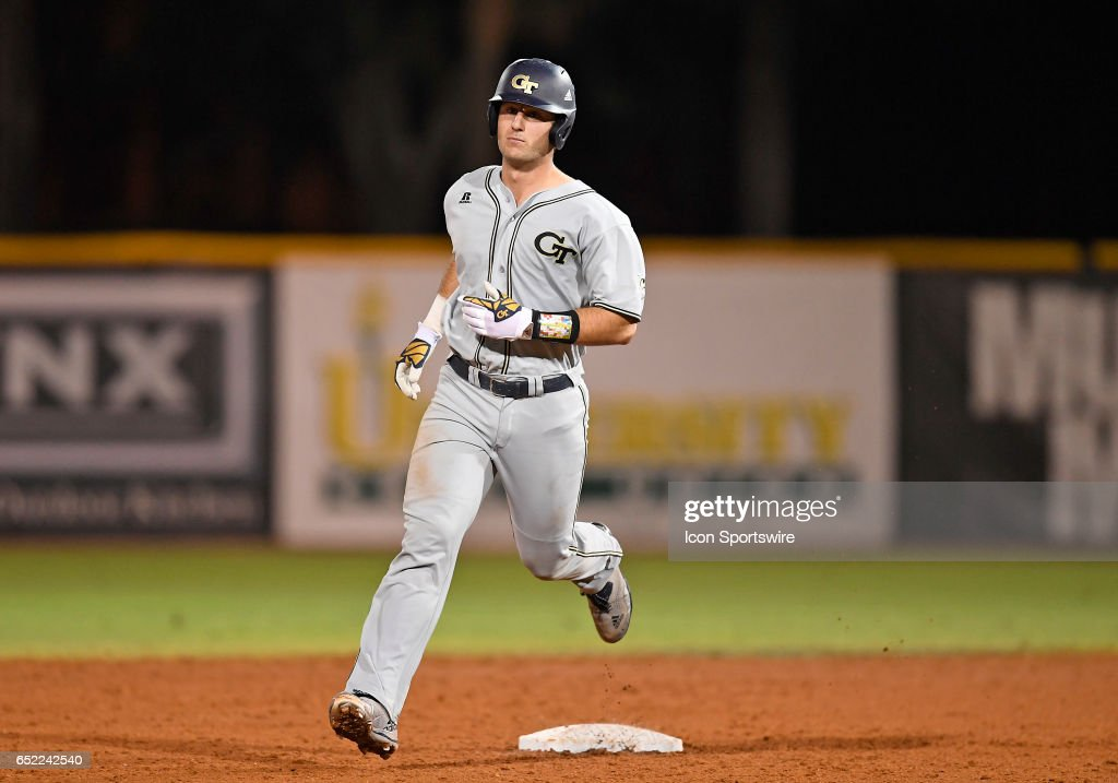 Georgia Tech Catcher Joey Bart 9 Hit A Two Run Home During
