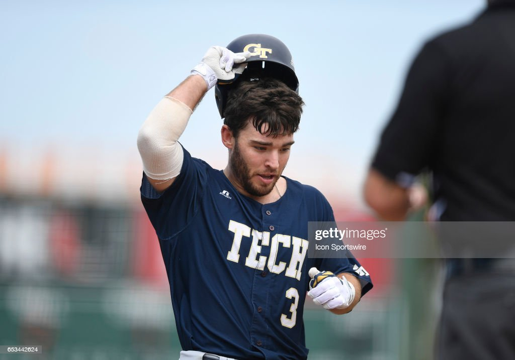 Georgia Tech Infielder Wade Bailey 3 Hit A Home Run During College Baseball