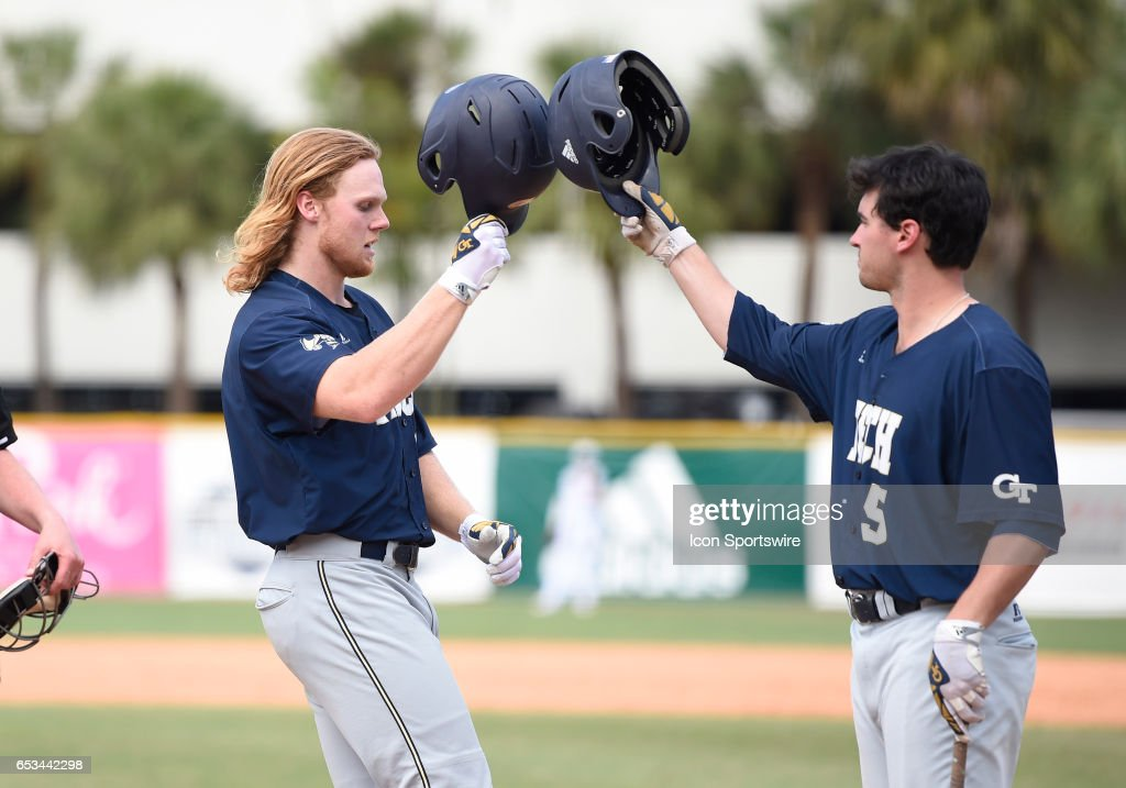 Georgia Tech Outfielder Coleman Poje 16 Hit A Home During College Baseball Game