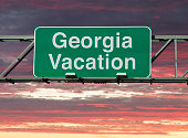 """A sign that says """"Georgia Vacation."""""""