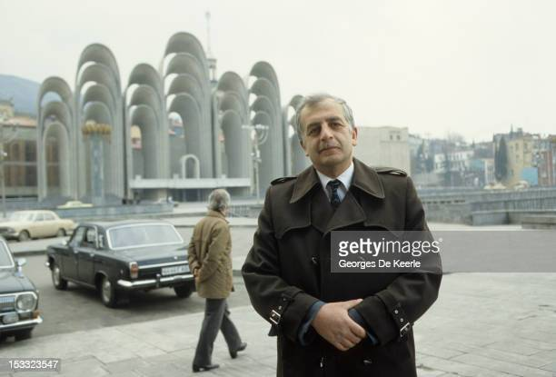 Georgian dissident and writer Zviad Gamsakhurdia in Tbilisi Georgia 1st April 1987 He later became President of the Republic of Georgia