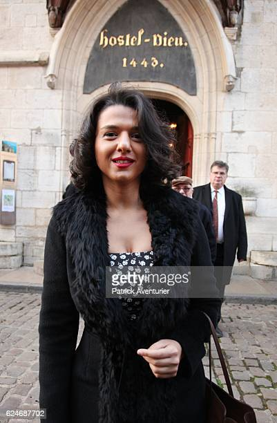 Georgian pianist Khatia Buniatishvili at the 156th Charity Wine Auction Hospices de Beaune on November 20 2016 in Beaune FranceThe Hospices de Beaune...