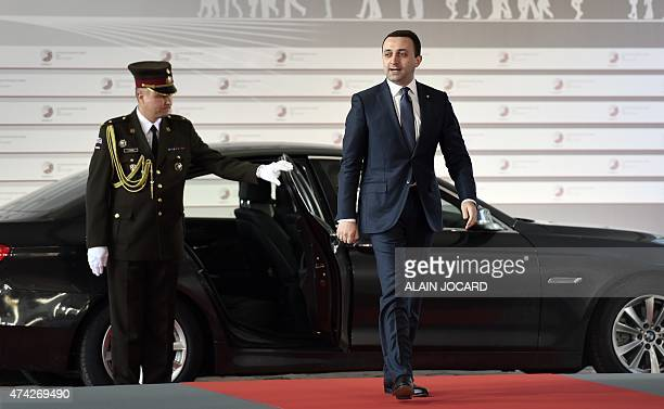 Georgian Prime minister Irakli Garibashvili arrives at the House of the Blackhead for an informal dinner at the start of the fourth European Union...