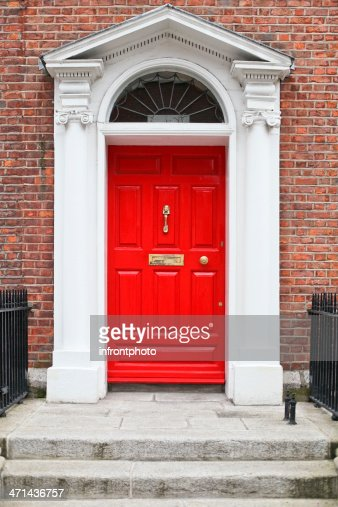 Georgian Style Red Wooden Door Stock Photo Getty Images