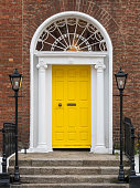 Beautiful Georgian Architecture, doors and windows - Dublin, Ireland