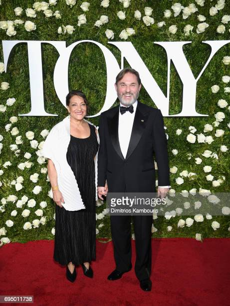 Georgiana Bischoff and actor Richard Thomas attend the 2017 Tony Awards at Radio City Music Hall on June 11 2017 in New York City