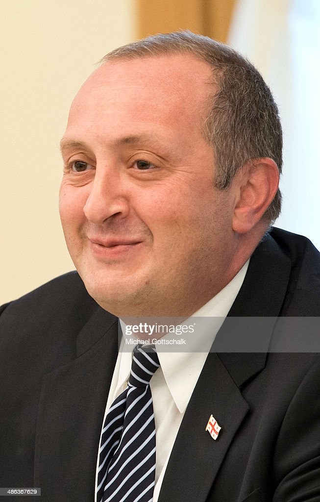 Georgias President <a gi-track='captionPersonalityLinkClicked' href=/galleries/search?phrase=Giorgi+Margvelashvili&family=editorial&specificpeople=10916956 ng-click='$event.stopPropagation()'>Giorgi Margvelashvili</a> attends a Meeting with German Foreign Minister Frank-Walter Steinmeier and French Foreign Minister Laurent Fabius (not pictured) on April 24, 2014 in Tbilisi, Georgia. German Foreign Minister Steinmeier travels together with his french counterpart Laurent Fabius to Moldavia, Georgia, Tunisia and France.