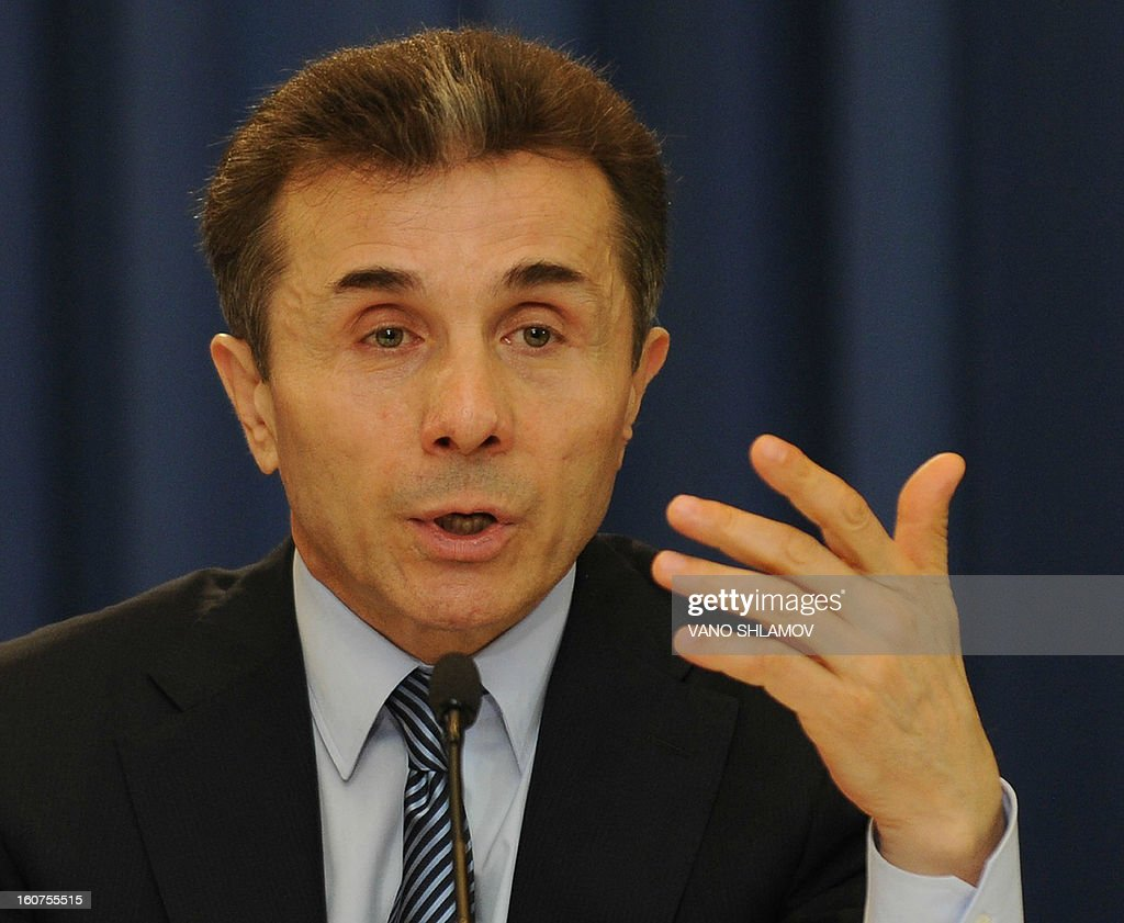 Georgia's Prime Minister Bidzina Ivanishvili speaks at his press conference in Tbilisi, on February 5, 2013 . Ivanishvili has pledged today to walk a tightrope in improving relations with arch-foe Russia while continuing the ex-Soviet country's pro-Western course.