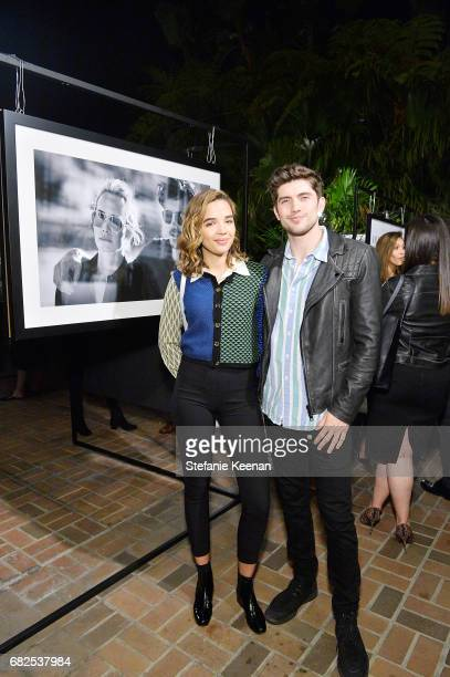 Georgie Flores and Carter Jenkin attend Oliver Peoples 30th Anniversary Party on May 12 2017 in Los Angeles California