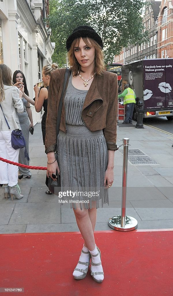 Georgie Frost attends the store launch party for BCBGMAXAZRIA on King's Road on May 27, 2010 in London, England.