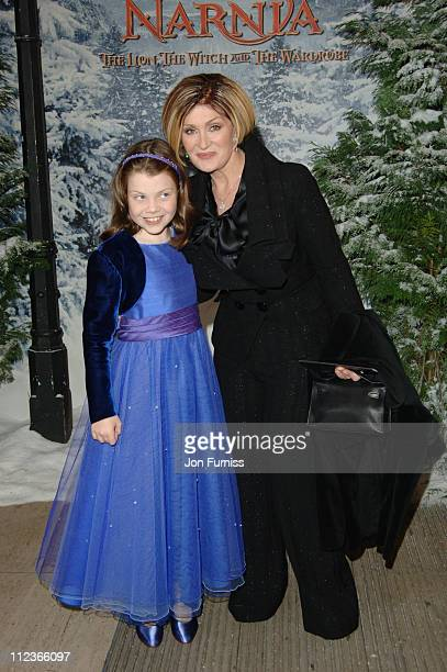 Georgie Henley and Sharon Osbourne during 'The Chronicles of Narnia The Lion The Witch and the Wardrobe' London Premiere Inside Arrivals at Royal...