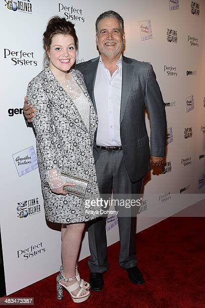Georgie Henley and Stanley M Brooks attend the Los Angeles premiere of Gravitas Ventures' 'Perfect Sisters' at Landmark Nuart Theatre on April 8 2014...