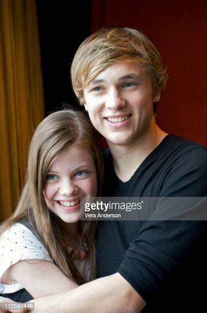 Georgie Henley and William Moseley at the 'Chronicles of Narnia' press conference at the Mandarin Oriental Hotel on May 3 2008 in New York City