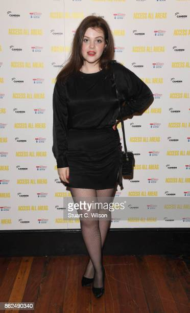 Georgie Henley arrives at the 'Access All Areas' VIP gala screening held at Proud Camden on October 17 2017 in London England