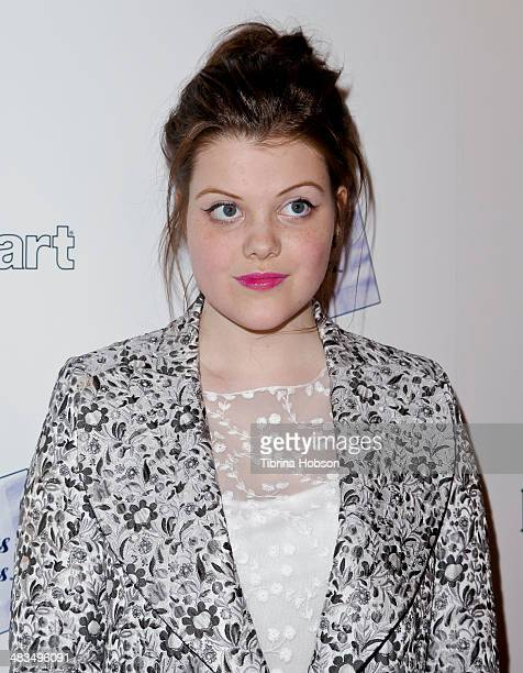 Georgie Henley attends the 'Perfect Sisters' Los Angeles premiere at Landmark Nuart Theatre on April 8 2014 in Los Angeles California