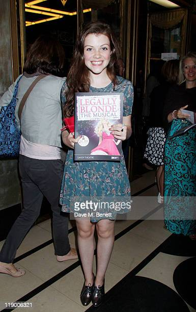 Georgie Henley attends the Press Night performance of the new cast of 'Legally Blonde The Musical' featuring Carley Stenson Lee Mead and Natalie...