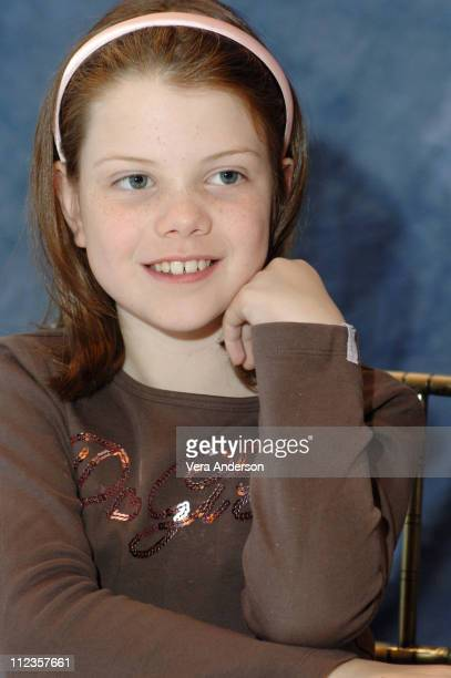 Georgie Henley during 'The Chronicles of Narnia The Lion the Witch and the Wardrobe' Press Conference with James McAvoy Andrew Adamson George Henley...