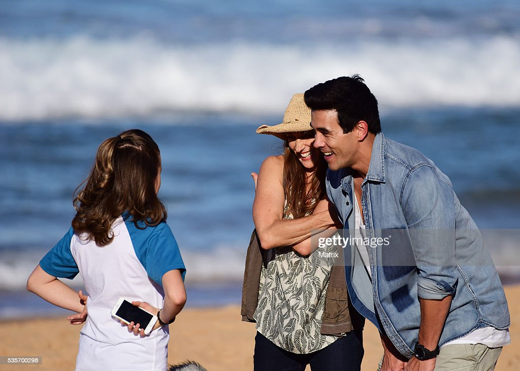 Georgie Parker and James Stewart filming scenes from Home and Away on May 30, 2016 in Sydney, Australia.