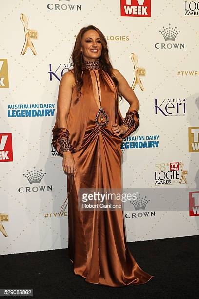 Georgie Parker arrives at the 58th Annual Logie Awards at Crown Palladium on May 8 2016 in Melbourne Australia