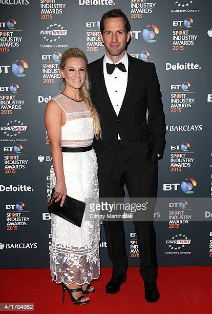 Georgie Thompson and Sir Ben Ainslie attends the BT Sports Industry awards at Battersea Evolution on April 30 2015 in London England