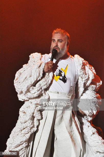 Georgij Makazaria performs on stage a 'Falco Tribute' during the Day 2 at Donauinselfest 2017 at Donauinsel on June 24 2017 in Vienna Austria