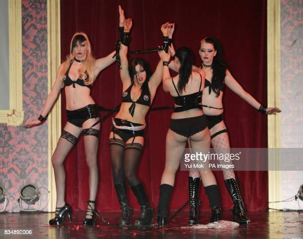 CONTENT** Georgina Baillie and her group The Satanic Sluts performing at Erotica 2008 in Olympia west London