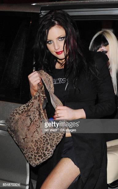 CROP Georgina Baillie and the Satanic Sluts arrive at Secret's Lap Dancing club in central London
