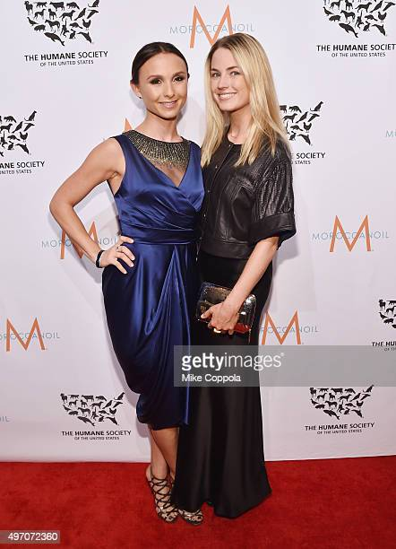 Georgina Bloomberg and Amanda Hearst pose for a picture during the 2015 To The Rescue New York Gala at Cipriani 42nd Street on November 13 2015 in...