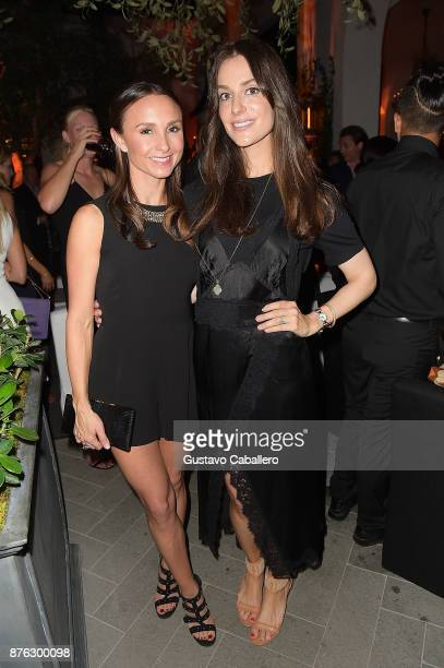 Georgina Bloomberg and Ariana Rockafeller attend the private opening celebration of RH West Palm on November 18 2017 in West Palm Beach Florida