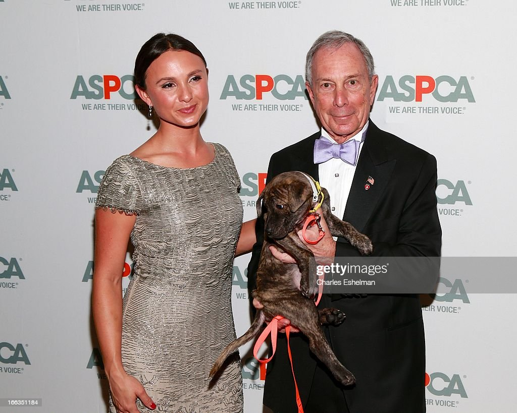 <a gi-track='captionPersonalityLinkClicked' href=/galleries/search?phrase=Georgina+Bloomberg&family=editorial&specificpeople=2466291 ng-click='$event.stopPropagation()'>Georgina Bloomberg</a> and father NYC Mayor <a gi-track='captionPersonalityLinkClicked' href=/galleries/search?phrase=Michael+Bloomberg&family=editorial&specificpeople=171685 ng-click='$event.stopPropagation()'>Michael Bloomberg</a> attend the New Yorker's For Children's 10th Anniversary A Fool's Fete Spring Dance at Mandarin Oriental Hotel on April 9, 2013 in New York City.