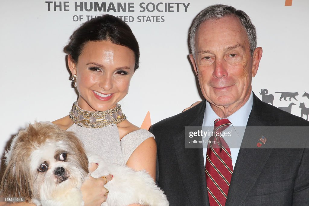 Georgina Bloomberg and Mayor <a gi-track='captionPersonalityLinkClicked' href=/galleries/search?phrase=Michael+Bloomberg&family=editorial&specificpeople=171685 ng-click='$event.stopPropagation()'>Michael Bloomberg</a> attend The Humane Society of the United States presents To The Rescue! gala benefiting post hurricane Sandy efforts at Cipriani 42nd Street on December 18, 2012 in New York City.