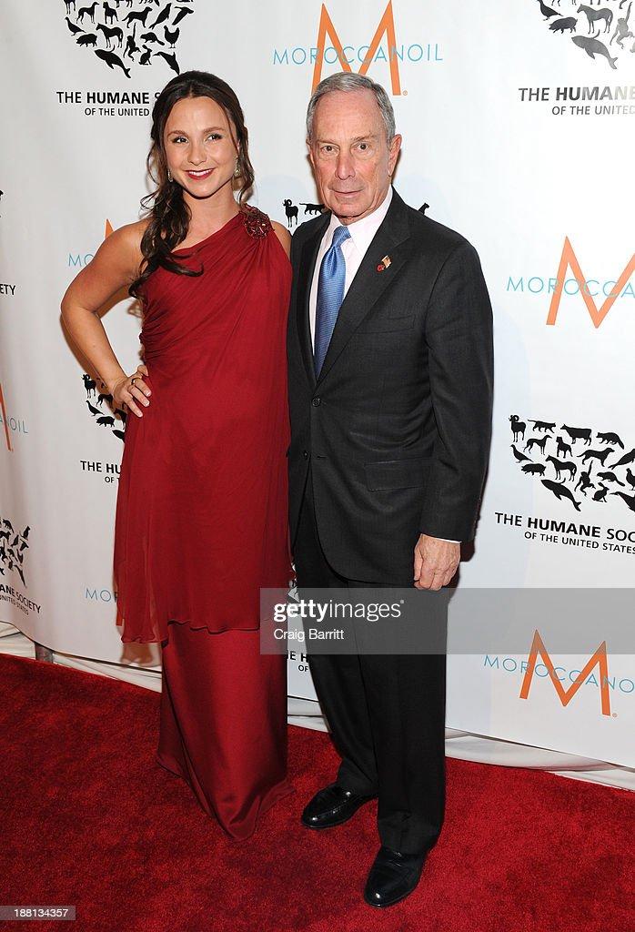 Georgina Bloomberg and Mayor Michael Bloomberg attends