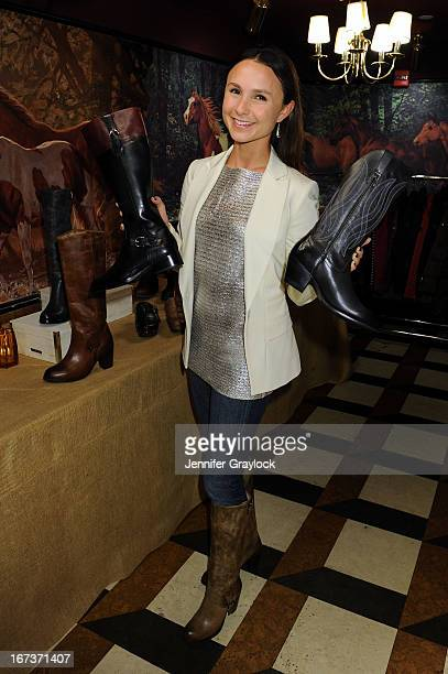 Georgina Bloomberg attends as Ariat Georgina Bloomberg host a night to honor Equus Foundation at El Jockey Lounge at Super Linda on April 24 2013 in...