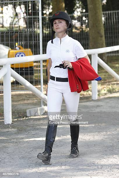 Georgina Bloomberg attends International Jumping CSIO Gijon on July 30 2014 in Gijon Spain