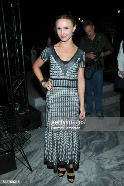 Georgina Bloomberg attends Oscar De La Renta fashion show during New York Fashion Week on September 11 2017 in New York City